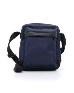 MAN'S CROSSBODY BAG BLACK IRIS Blu