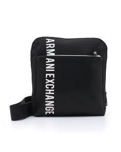 MAN'S CROSSBODY BAG BLACK/WHITE Nero