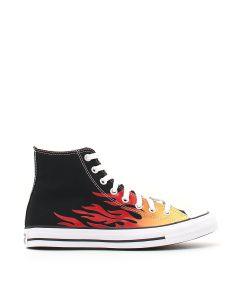 CHUCK TAYLOR ALL STAR - HI - BLACK/ENAMEL RED Nero
