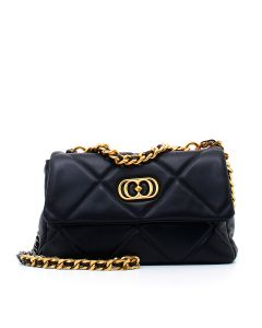 STICH&SPUN STEPHY MED. HAND BAG LEATHER Nero