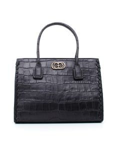 INFIL. CARA DOCTOR BAG COCCO LEATHER Nero