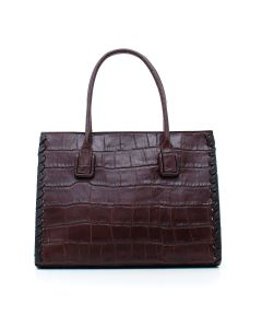 INFIL. CARA DOCTOR BAG COCCO LEATHER Marrone