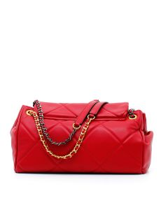 STICH&SPUN GISELLE BAGUETTE LEATHER Rosso