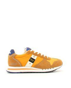 MEN MESH/NYLON/SUEDE RUNNING OCHRE Arancione